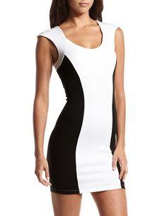 Color Block Ponte Body-Con Dress: Charlotte Russe