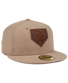 sports shoes 11d1f 536c9 ... promo code for new era detroit tigers the logo of leather 59fifty  fitted cap tan beige