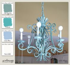 Colorways with Leslie Stocker » A Tale of Two Chandeliers