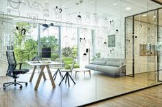 officedesign  by idstudio , furniture from Viccarbe