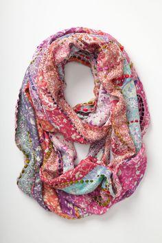 Spice Market Scarf - Anthropologie.com -- striking detail -- love the yarn woven through (handspun/art yarn would be gorgeous!)