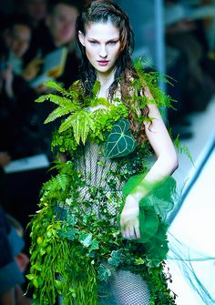 The leaf bridal dress at Jean Paul Gaultier Spring/Summer Haute Couture 2002