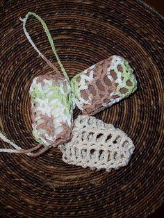 Soap holder/scrubby. #crochet