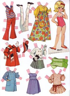 Dolly Darlings - Lorie Harding - Álbuns da web do Picasa Plus Size Girls Clothing, Paper Toys, Paper Crafts, Art Origami, Long Pixie Cuts, Paper Dolls Printable, Vintage Paper Dolls, Doll Patterns, Doll Toys