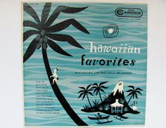 Vintage Record Album Tiki Art 1957 Hawaiian Favorites by OldLikeUs