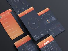 Hi guys! Sport app for you ) Check some screens in the attachment.And follow me on Behance
