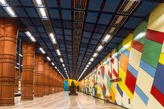 Olaias Metro Station in Lisbon, Portugal