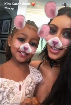 How cute! North West proved she's also quite the pro when it comes to imitating mice as she played with her mother Kim Kardashian on Thursday