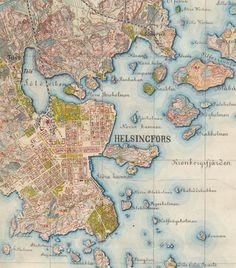 Helsinki 1872-73. Keskustaa. Histdoc.net