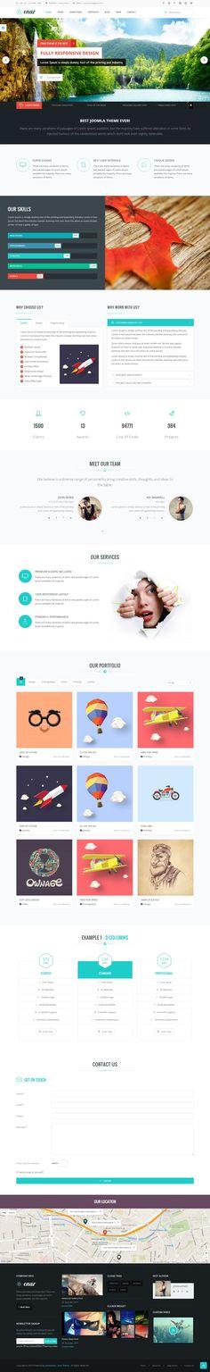 Enar – Responsive Multi-Purpose Responsive #Joomla #Template for Stunning #website of Creative Corporate, Corporation, Company Profile, Personal Portfolio, and more