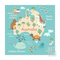 Resultado de imagem para australian maps for kids Australia Map, Australia Continent, Australia Animals, Australia Beach, Sydney Australia, World Map Continents, Continents And Oceans, Kids World Map, Maps For Kids