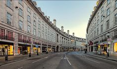 Regent Street, London. Every building on Regent Street is Grade II listed. Collectively they form the Regent Street Conservation Area (PDF), which also encompasses other neighbouring streets The original Regent Street was designed by John Nash, although the only surviving Nash building to this day is the church All Saints Langham Place. As well as being intended as a royal thoroughfare, it was also the world's first purpose built shopping centre.