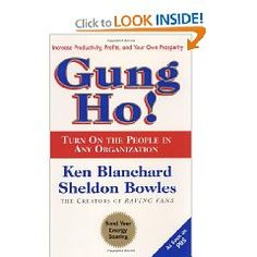 I just love Ken Blanchard's books!  If every manager read and took this book to heart employees would increase their productivity and profitability.  EXCELLENT READ:)