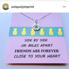 Great quote + cute necklace = awesome gift!