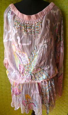printed ans embro tunic