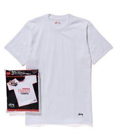【ZOZOTOWN|送料無料】STUSSY(ステューシー)のTシャツ/カットソー「Stussy Hanes 3 Pieces Crew Tee」(17S_SP03524C)を購入できます。