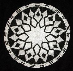 Geometric Black & White Handmade Coiled African Zulu Telephone Wire Basket/Plate #BlackFolkArt