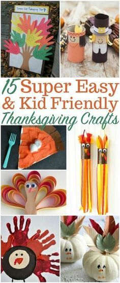 Simple and Kid-Friendly Thanksgiving Crafts - PennyPinchinMom 15 Kid Friendly Thanksgiving Crafts. Whether it's for decor or fun, these Thanksgiving crafts will be a huge hit for you and your kids! Thanksgiving Crafts For Kids, Thanksgiving Decorations, Holiday Crafts, Thanksgiving Table, Halloween Crafts, Autumn Crafts, Halloween Ideas, Holiday Ideas, Diy Crafts For Kids