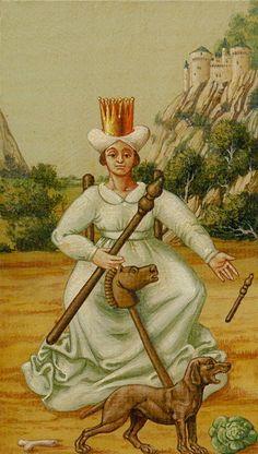 La reine de bâtons - Tarot Bruegel par Guido Zibordi Marchesi