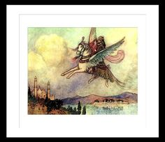 Arabian Nights Aladdin Magic Carpet Ride Vintage by BuckeyeStudio, $10.00