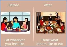 Girl's life before and after the #Marriage.