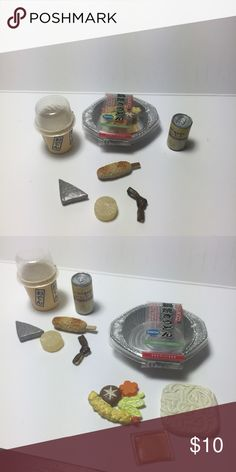 🍥 Convenience Store Ramen Noodle Lunch Set 🍥 Japanese Miniature Collectibles.   The set is complete/not missing any pieces. In excellent condition. These were never played with, only displayed in a glass case.   Great for display, putting in your planters, accessories for dolls, etc.  Tags: kawaii, japanese, rement, re-ment, miniatures, fairy garden, planter, anime, food, cute, blind box Accessories