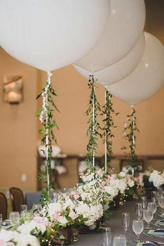 Balloons Photography Ideas For Your Wedding ★ balloons photography flower balloon centerpieces Baloons Wedding, Balloon Centerpieces Wedding, Masquerade Centerpieces, Balloon Decorations, Wedding Decorations, Wedding Reception Balloons, Balloon Arch Diy, Balloon Flowers, Balloons Photography