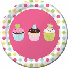 Sweet Treats plates are great for a cupcake birthday