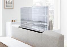 New Kaydian Bowburn Upholstered TV Bed - Oatmeal Fabric