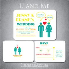 Printable Wedding Invitation and RSVP  by iheartstationeryshop, $35.50