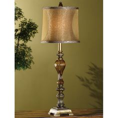 "Found it at Wayfair - Tavon 32"" H Table Lamp with Drum Shade"