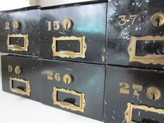 Antique Safety Deposit Box by housewarming101 on Etsy, $22.00