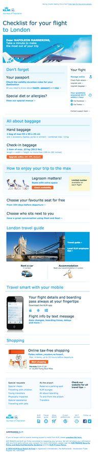 KLM pre travel campaign