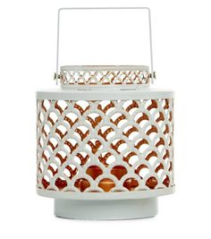 White Scallop Cut Out Lantern  | New Look
