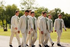 Tuxedos + Suits by Street Tuxedo - Green Brown Suit Wedding, Khaki Wedding, Fall Wedding Bridesmaids, Sage Green Wedding, Tuxedo Wedding, Blue Bridesmaids, Gray Weddings, Wedding Groom, Wedding Pics