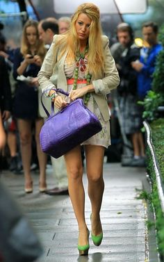 great purple handbag.