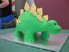 A fourth birthday Dinosaur cake.