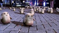 Adipose aliens from Doctor Who are not by Ms. French but perhaps her work was an inspiration for them