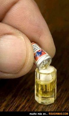 La cerveza más pequeña del mundo.