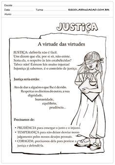 Atividades de Ensino Religioso Justiça Maria Jose, Professor, Homeschool, Bible, Teaching, Education, Memes, Moral, Kids