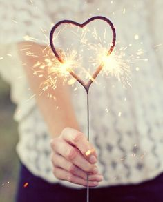 Heart Sparklers // made just for weddings and other expressions of love, better than the ordinary straight variety - love how the flame meets in the middle