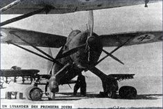 """One of five British built Westland Lysanders of Escadrille """"Rennes"""" of Groupe """"Bretagne"""" of Forces Aériennes Françaises Libres (Free French Air Forces) employed in tactical support missions against the Italians during the operations for the conquest of oasis of Fezzan in the Western Libyan desert."""
