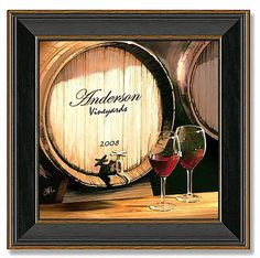 If you love drinking wine, shop at Personal Prints for wine canvas art. The wine barrel in this custom canvas art can be personalized with your name. Framed Artwork, Framed Art Prints, Decoration, Art Decor, Room Decor, Canvas Frame, Canvas Art, Wine And Canvas, Thing 1
