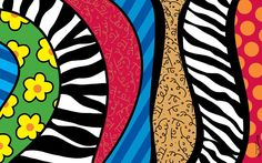By Romero Britto Mehr Pop Art, Karla Gerard, Paper Architecture, Zombie Art, Arte Pop, Pin Up Art, Famous Artists, Art Projects, Graffiti