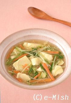 豆腐と水菜のとろとろしょうがあん