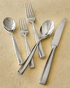 hand forged heavy stainless flatware