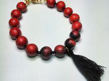 bracelet perles et pompon perles en pâte polymère #DIY