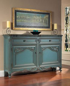 French Blue Hall Console - Pulaski