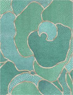 Wild and Weird and Wonderful. Shagreen wallpaper