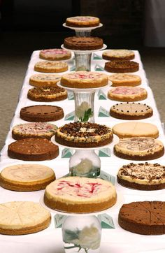 Cheesecakes instead of cake/etc.? It definitely fits me! Haha, I could get The Cheesecake Factory to cater.